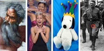 God, Miss America, Snoopy, and Hilter's testicle.
